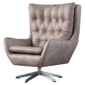 Skylar KD PU Swivel Chair, Devore Gray