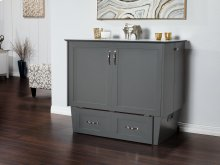 Madison Murphy Bed Chest Twin Atlantic Grey with Charging Station