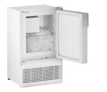 """WH95FC 14"""" Marine Crescent Ice Maker White Solid Field Reversible (Flange to Cabinet)"""