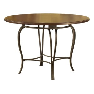 "Hillsdale FurnitureMontello Round Dining Table 45"" Faux Wood Top Only - Ctn B"