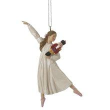 Clara Holding Nutcracker Ornament.