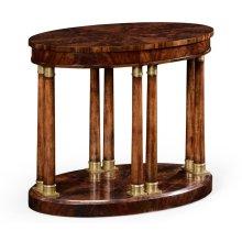 Mahogany Biedermeier Style Oval Side Table
