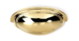 Classic Traditional Cup Pull A1571-35 - Polished Brass