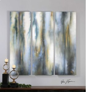 Moonglow Hand Painted Canvases, S/3