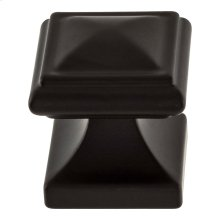 Wadsworth Knob 1 1/4 Inch - Matte Black