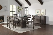 Madison County High/low Table With 4 Stools - Barnwood