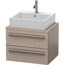 X-large Vanity Unit For Console Compact, Cashmere Oak