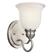 Tanglewood 1 Light Wall Sconce Brushed Nickel