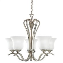 Wedgeport 5 Light Chandelier with LED Bulbs Brushed Nickel