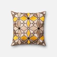 Taupe / Gold Pillow