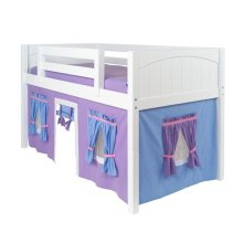 Under Bed Curtain : Purple/Light Blue/Hot Pink