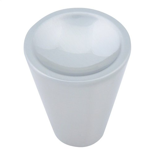 Dap Cone Knob 1 Inch - Brushed Nickel