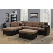 Mallory Casual Tan Sectional Product Image