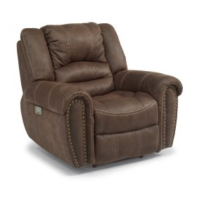 New Town Fabric Power Recliner with Power Headrest