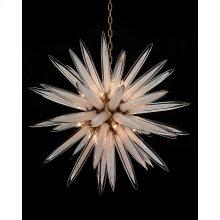 Handblown Glass Sphere Sixteen-Light Pendant