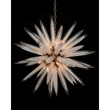 Handblown Glass Sphere Sixteen-Light Pendant