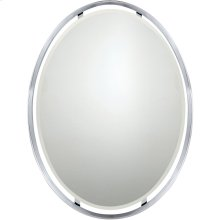 Uptown Ritz Mirror in Polished Chrome