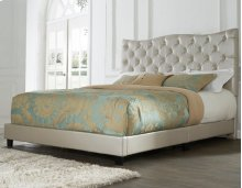 "Marilyn King Bed, Gold 82""x4""x58"""