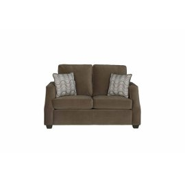 Loveseat - Chocolate Twill Microfiber Finish