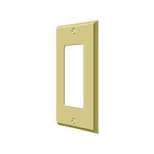 Switch Plate, Single Rocker - Polished Brass