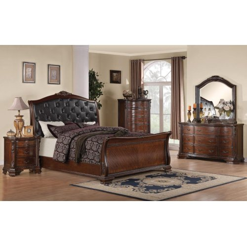 Maddison Brown Cherry California King Bed