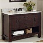 "FAIRMONT DESIGNSNapa 48"" Open Shelf Vanity - Aged Cabernet"