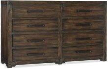 Roslyn County Eight-Drawer Dresser