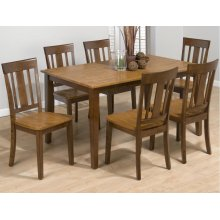 Table & 6 Slat Back Chairs