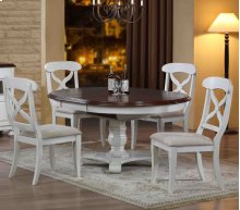 Sunset Trading 5 Piece Andrews Butterfly Leaf Dining Set in Antique White