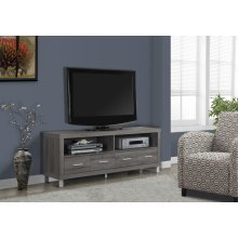 """TV STAND - 60""""L / DARK TAUPE WITH 4 DRAWERS"""