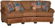 Henson Leather/Fabric Conversation Sofa