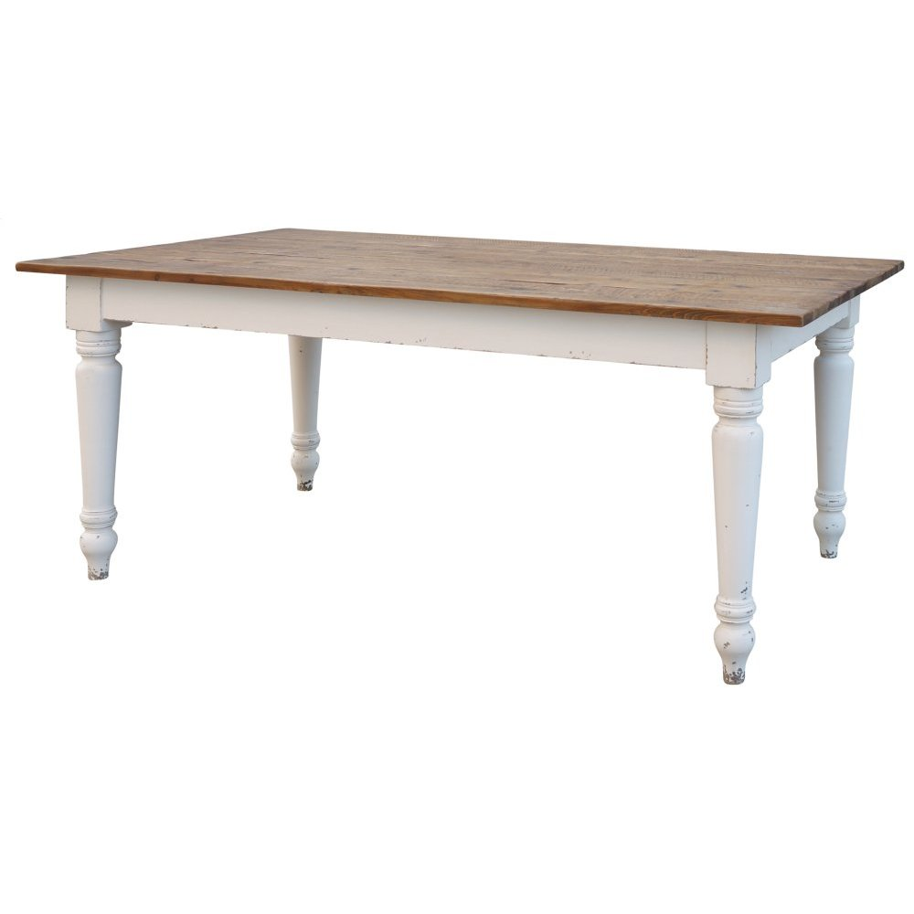 "Charlie Dining Table 72""-bleach Pine/fow"