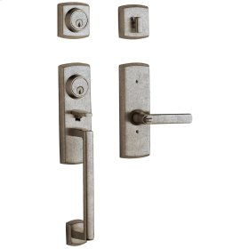 Distressed Antique Nickel Soho Two-Point Lock Handleset