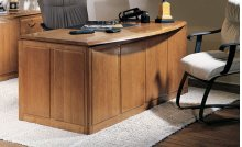 Double Pedestal Bow Front Desk