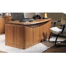 Double Pedestal Bow Front Desk