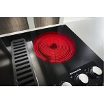 "Kitchenaid 36"" Electric Downdraft Cooktop With 5 Elements - Black"