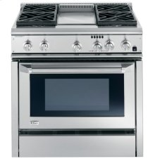 "GE Monogram® 36"" Dual-Fuel Professional Range with 4 Burners and Griddle (Natural Gas)"