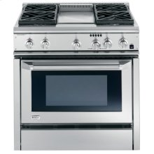 """GE Monogram® 36"""" Dual-Fuel Professional Range with 4 Burners and Griddle (Natural Gas)"""