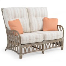 Rattan Loveseat in Weather Grey 8802
