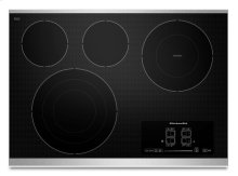 "30"" Electric Cooktop with 4 Radiant Elements and Touch-Activated Controls - Stainless Steel"