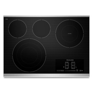 """Kitchenaid30"""" Electric Cooktop with 4 Radiant Elements and Touch-Activated Controls - Stainless Steel"""
