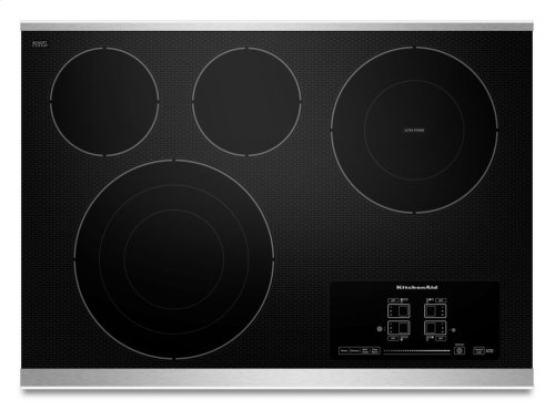 """30"""" Electric Cooktop with 4 Radiant Elements and Touch-Activated Controls - Stainless Steel"""