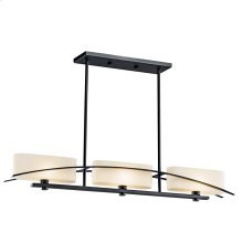 Suspension Collection Suspension 3 Light Halogen Linear Chandelier -BK
