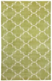 Quatrefoil Apple Ivory Hand Knotted Rugs