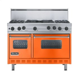 "Pumpkin 48"" Sealed Burner Self-Cleaning Range - VGSC (48"" wide, four burners & 24"" wide wok/cooker)"