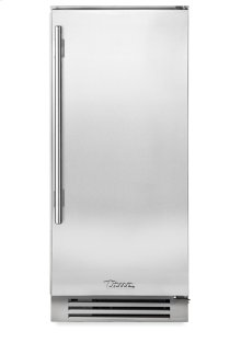 15 Inch Stainless Solid Door Clear Ice Machine - Left Hinge Stainless Solid