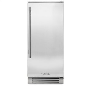 True Residential15 Inch Stainless Solid Door Clear Ice Machine - Left Hinge Stainless Solid