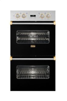 "30"" Double Custom Electric Select Oven, Brass Accent"