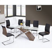 Veneta 7pc Dining Set, Walnut