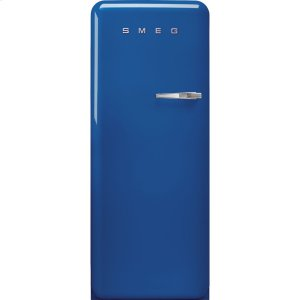Smeg'50s Style fridge with ice compartment, Blue, Left-hand hinge, 24'' in-width